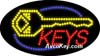 LED Lighted Keys Made Sign