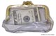 See Thru Coin Purse Snap Open Vinyl