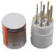 8pc Punch Set Round Plastic Holder