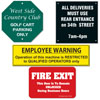 Custom made engraved signs