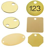 brass key tags and checks