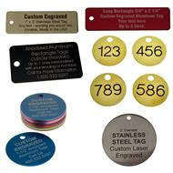 Custom engraved metal tags