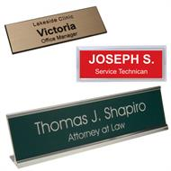 Name badges and Desk Plates