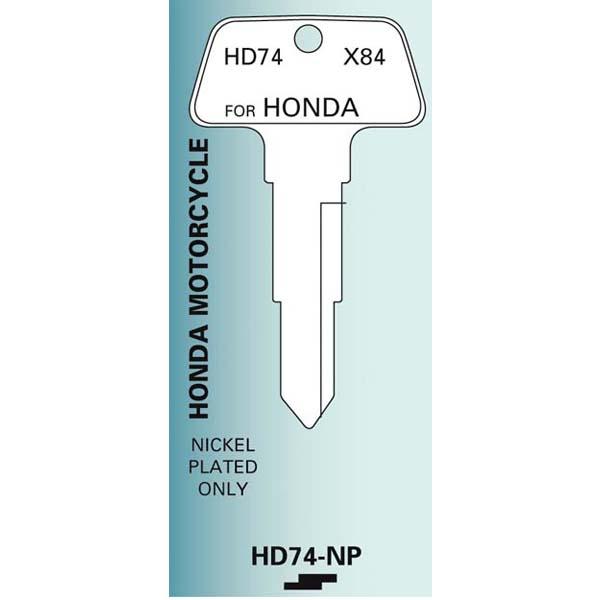 HD74_Honda_Motorcycle_key_blank hd74 honda motorcycle key blank nickel plated x84