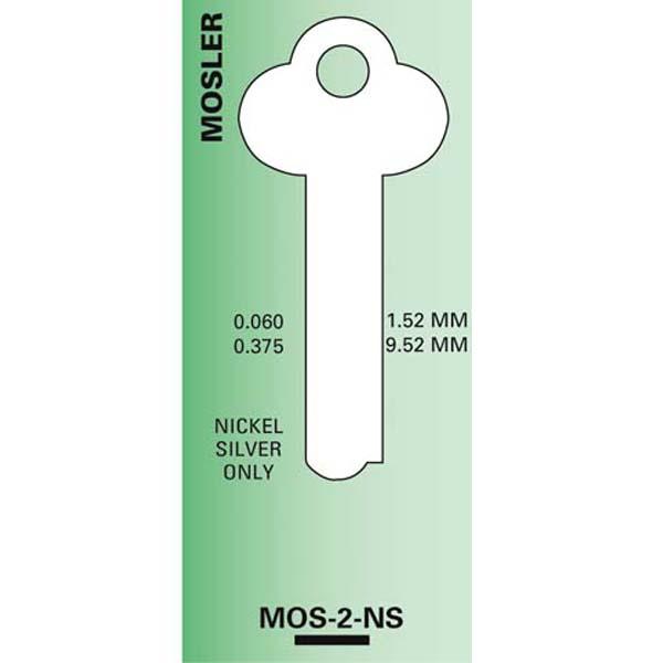 MOS2 MOSLER SAFE DEPOSIT Key Blank 1323L