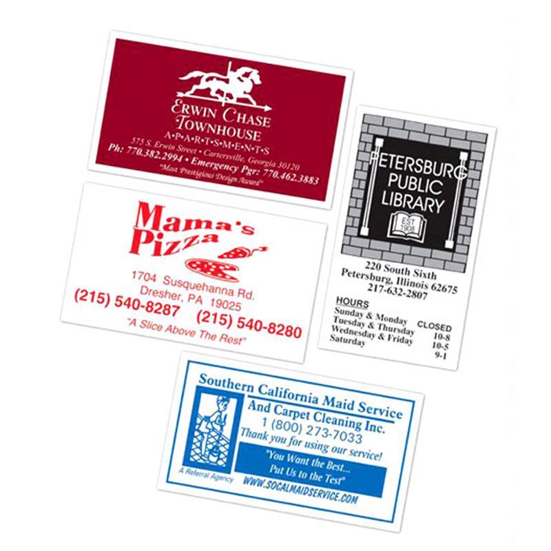 Custom Printed Business Card Magnet FULL COLOR