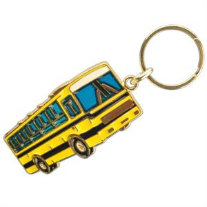 Stained Glass School Bus Key Chain