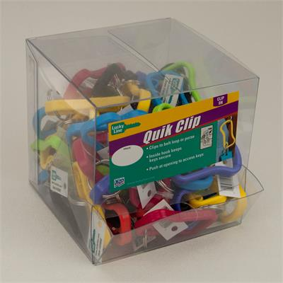 Lucky Line Plastic Quik Clip 50 to a Display