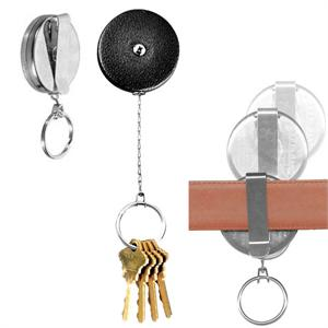 Key Bak Retractable Key Holder Clip On Black (USA)