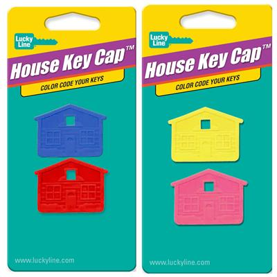Lucky Line House Key Caps USA MADE 2 to a Card Assorted Colors