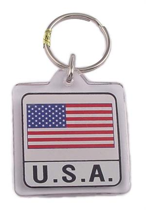 Acrylic Flag Keychain USA-12 Card