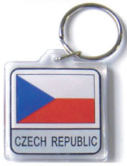 Czech Republic Flag Keychain Acrylic