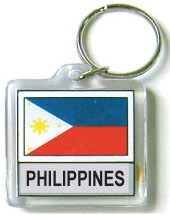 Phillipines Flag Keychain Acrylic