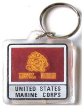 Acrylic Armed Forces Keychain Marines Devil Dogs