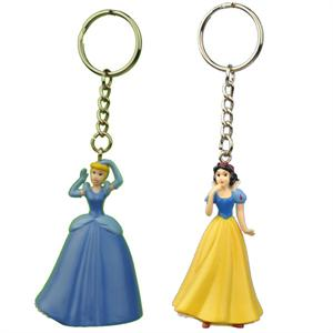 Snow White and Cinderella 3D Figurine Keychain