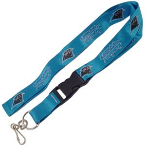 Carolina Panthers NFL Lanyard Keychain