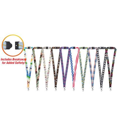 LuckyLine Designer Lanyards - 20 to a Card Assorted