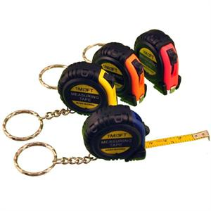 3 Foot Tape Measure Key Chain Plastic Case 12/Card