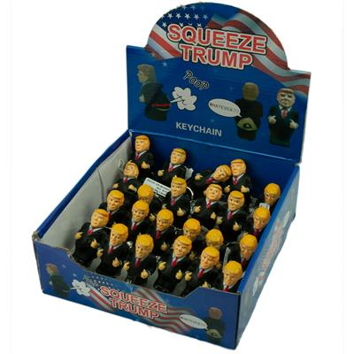 Trump Squeeze Poop Key Chain 24/Box