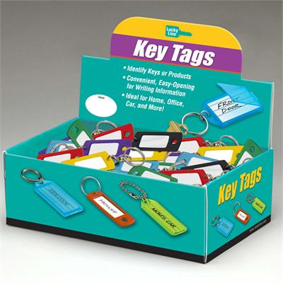 Lucky Line Key ID Tag with Swivel 200 to a Box Assorted Colors