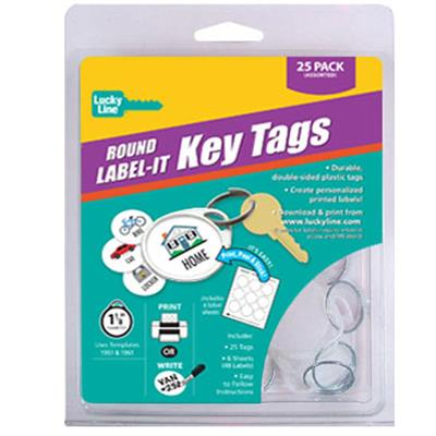 2 Hole Round Label-It Tags 25 to a Clamshell Pack