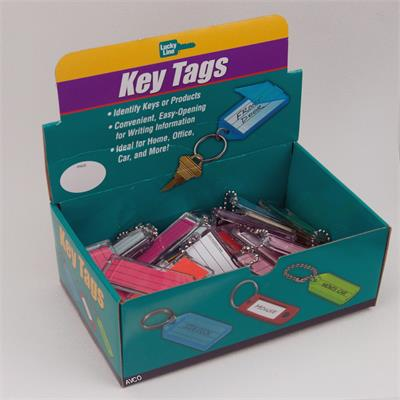 Lucky Line Extra Large Key Tag with Bead Chain Box of 50