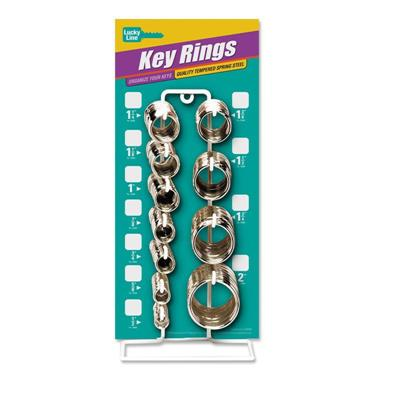LL Split Key Ring Display Rack with 365 pcs