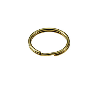 Solid Brass Split Key Ring 1/2 Inch 100/Bag