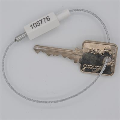 Push-Lock Permanent Cable Key Ring
