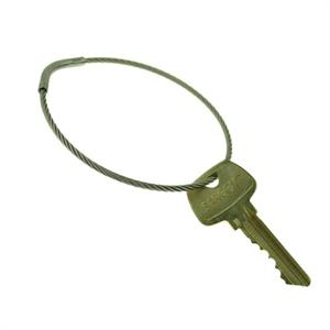 "Flexible Stainless Steel Cable Tamper Proof Key Ring 3"" Diameter"