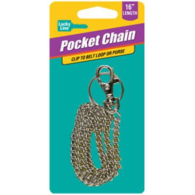Lucky Line XL Pocket Chain 18 Inch with Snap 1/Card