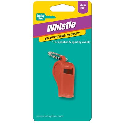 Lucky Line Plastic Whistle 1/Card Assorted Colors