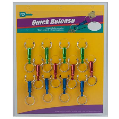 Lucky Line Pull Apart Key Separator Anodized Aluminum Colors Card of 12