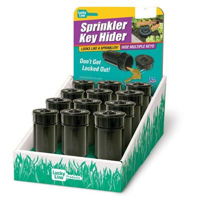 Lucky Line Sprinkler Head Key Hider 12 to a Display