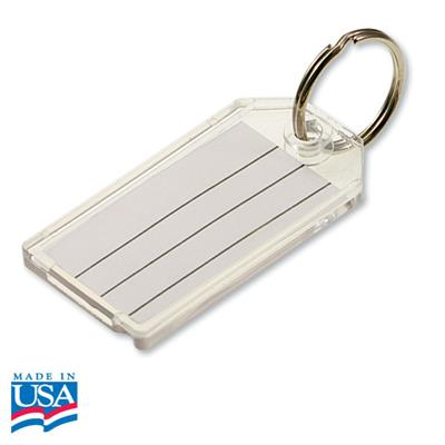 Extra Strength Large Key ID Tag with Split Ring Clear Only Sold Each