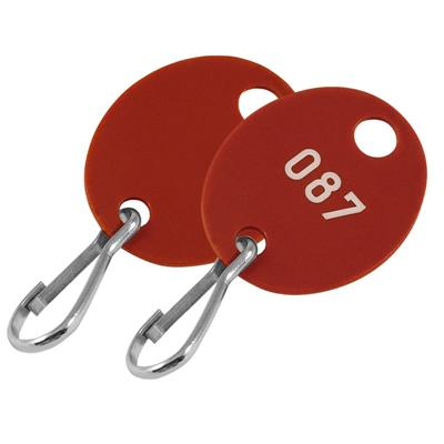 Lucky Line Oval Key Cabinet Tag NUMBERED 100 to a Pack