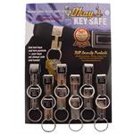 Okays Key Safe Belt Key Holder Chrome 12/Card