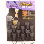 Okays Key Safe Belt Key Holder Black 12/Card