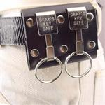 Okays Double Leather Key Holder