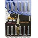 Okays Key Pal Belt Key Holder Metallic Gray 12/Card