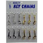 Medium Heavy Duty Snap Clip Key Chains Mixed