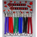 Plastic Coil Keychain With Mini Metal Snap Clip