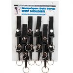 Nylon Belt Strap Key Holder Snap Open With Clip 12/Card