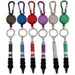 Climbers Clip Carabiner With Retractable Pen Keychain