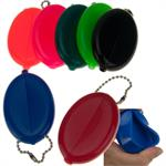 Oval Squeeze Coin Purse Keyring Bulk Each by Color