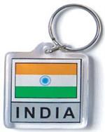 India Flag Keychain Acrylic