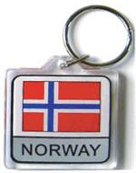 Norway Flag Keychain Acrylic
