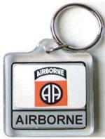 Acrylic Armed Forces Keychain 82nd Airborne