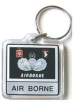 Acrylic Armed Forces Keychain Airborne