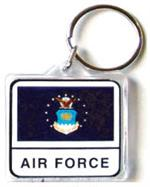 Acrylic Armed Forces Keychain Air Force
